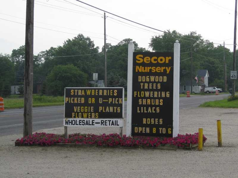 U Pick Tour Secor Nursery Perry Ohio