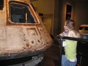 Nick and Sally take a look at the Skylab 3 Apollo capsule